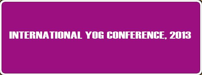 International Yog Conference, 2013
