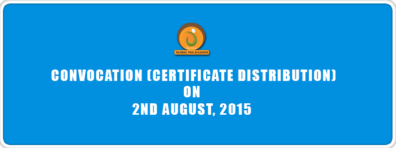 Convocation (Certificate Distribution), 2nd August, 2015